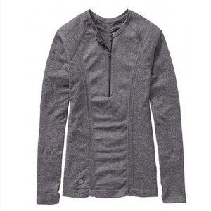 ATHLETA Long Sleeved Half Zip Gray Tracker Top M